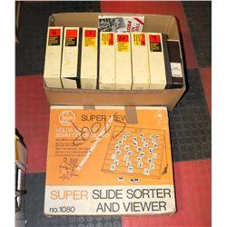 BOX W/VINTAGE SUPERVIEW SLIDE SORTER &