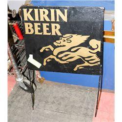 METAL PAINTED KIRIN BEER SIGN