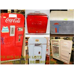 FEATURED LOT: VINTAGE FRIDGE & COOLERS
