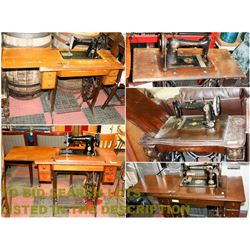 FEATURED LOT: VINTAGE & ANTIQUE SEWING MACHINES