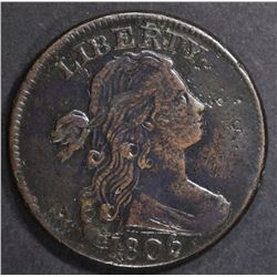 1806 LARGE CENT VF/XF SOME PITTING