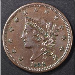 1838 LARGE CENT AU/BU