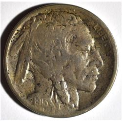 1913-D TYPE-2 BUFFALO NICKEL, VF+