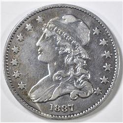 1837 BUST QUARTER XF/AU