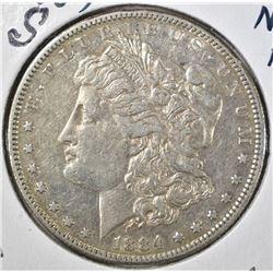 1884-S MORGAN DOLLAR, AU
