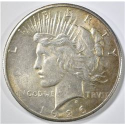 1926 PEACE DOLLAR, AU