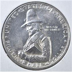 1920 PILGRIM COMMEM HALF DOLLAR  CH BU