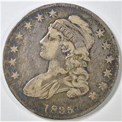 1835 BUST HALF DOLLAR  VF