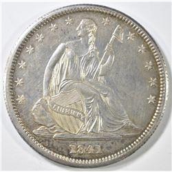 1841 SEATED LIBERTY HALF DOLLAR   BU