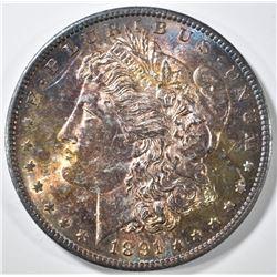 1891-S MORGAN DOLLAR  GEM BU PQ