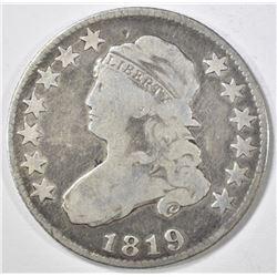 1819 BUST QUARTER  VG
