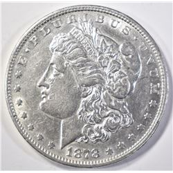 1878 8TF MORGAN DOLLAR   AU/BU  SOME LIGHT MARKS