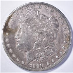 1889-CC MORGAN DOLLAR FINE OLD CLEANING