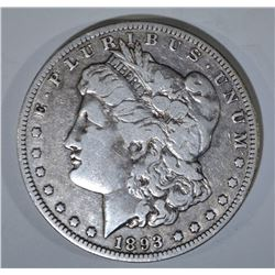 1893-O MORGAN DOLLAR   F/VF