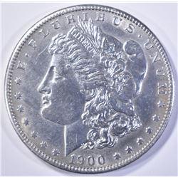 1900-S MORGAN DOLLAR  BU  CLEANED