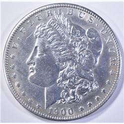 1900-S MORGAN DOLLAR  BU  CLEANED