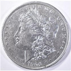 1901 MORGAN DOLLAR AU