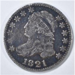 1821 BUST DIME  F/VF