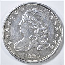 1835 BUST DIME  AU