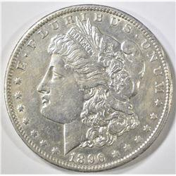 1896-O MORGAN DOLLAR, AU/BU cleaned
