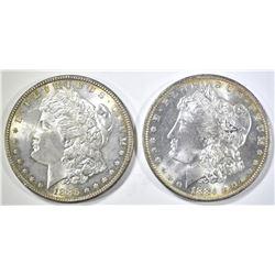 1884-O & 85 MORGAN DOLLARS CH BU