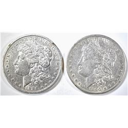 1886-O & 1890-O AU MORGAN DOLLARS