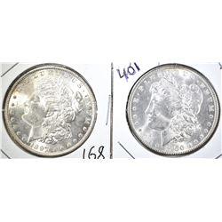 1897 & 1900 CH BU MORGAN DOLLARS, CH BU