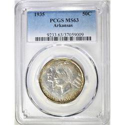 1935 ARKANSAS COMMEM HALF DOLLAR  PCGS MS-63