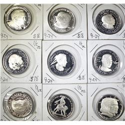 9 COMMEM COIN COPIES, GREAT TO FILL HOLES IN SET