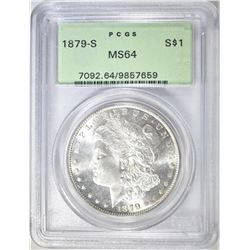 1879-S MORGAN DOLLAR  PCGS MS-64  OGH