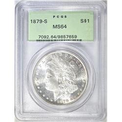 1879-S MORGAN DOLLAR  PCGS MS-64  OGH