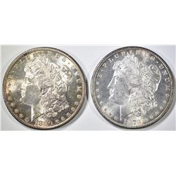 1879-S & 1880-S MORGAN DOLLARS  BU