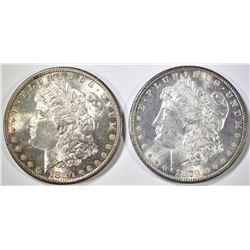 1879-S & 1880-S MORGAN DOLLARS  BU