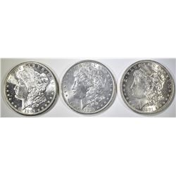 1881, 1881-S & 1881-O MORGAN DOLLARS   BU