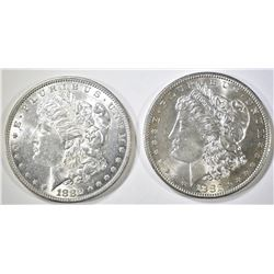 1882 & 1882-S  MORGAN DOLLARS  BU