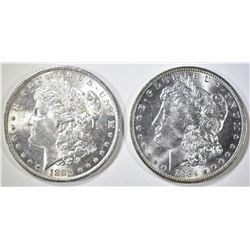 1884-O & 1885-O MORGAN DOLLARS  BU