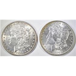 1886 & 1887 MORGAN DOLLARS  BU