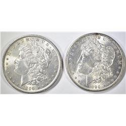 1890 & 1896 MORGAN DOLLARS   BU