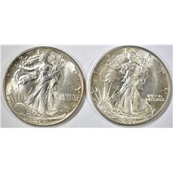 1941-D & 45 WALKING LIBERTY HALF DOLLARS  CH BU