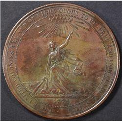 1876 HK 21 CENTENNIAL EXPO COPPER SO CALLED DOLLAR