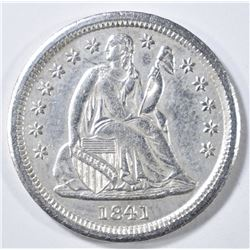 1841 SEATED LIBERTY DIME  BU