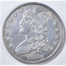 1833 BUST QUARTER  AU