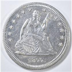 1877-CC SEATED LIBERTY QUARTER   BU