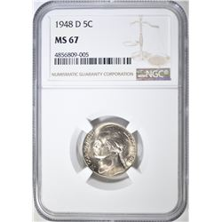 1948-D JEFFERSON NICKEL, NGC MS-67