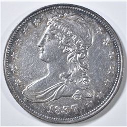 1837 REEDED EDGE BUST HALF DOLLAR BU CLEANED