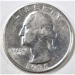 1935-D WASHINGTON QUARTER AU