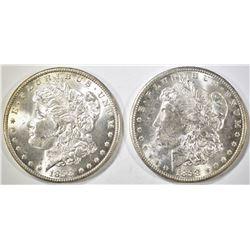 (2) 1898-O MORGAN DOLLARS CH BU