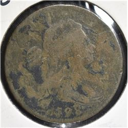 1798 DRAPED BUST LARGE CENT G/VG