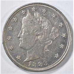 1883 WITH CENTS LIBERTY NICKEL AU/BU