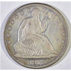 1877 SEATED LIBERTY HALF DOLLAR  AU/BU
